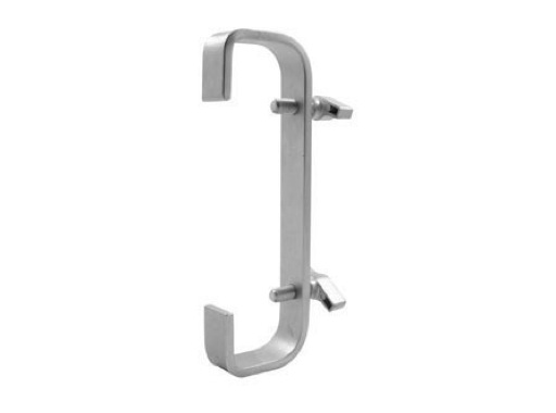 DOUGHTY • Crochet double 660 mm pour tube Ø50mm charge 40kg