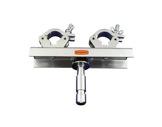 DOUGHTY • Platine spigot fixe Ø28 poutre 200/400+ 2 colliers-accessoires