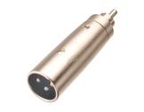 Adaptateur • XLR 3 points mâle - RCA mâle-cablage