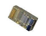 Fiche • RJ45 blindée 8 contacts pour câble rond ou plat-cablage