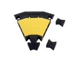 TEMA L • Angle 45° pour passage de câbles 3 canaux TEMA20-cablage