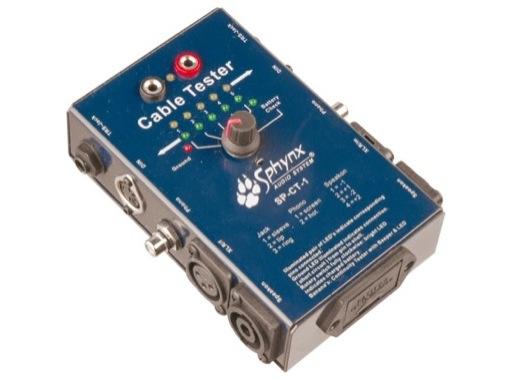 Testeur • Câbles audio XLR-Speakon-Din-RCA-Jack-Banane