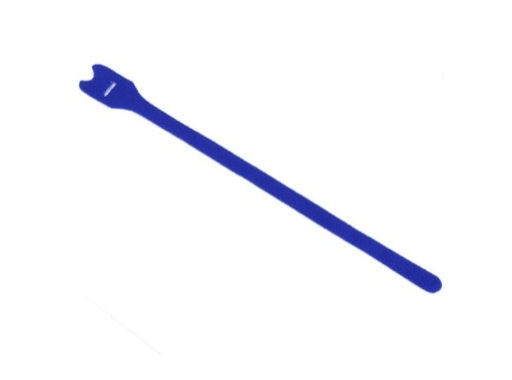 Attache velcro • rouleau de 20 velcros bleus 25/300 mm