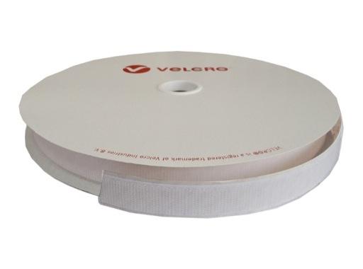 Velcro adhésif • Crochet blanc 20 mm - Prix au ml