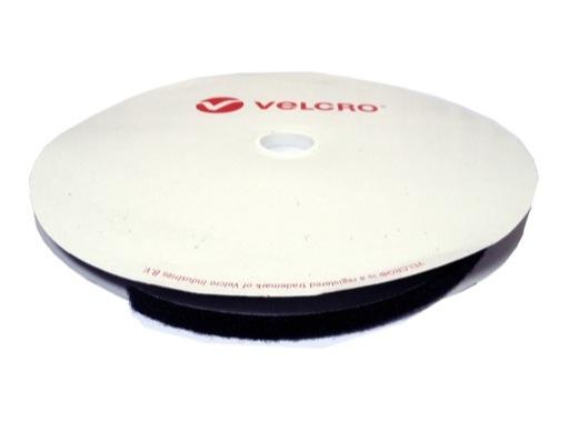 Velcro adhésif • Boucle noir 50 mm - prix au ml