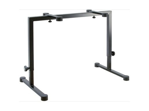 K&M • Stand clavier H 600 à 1020 mm Base 1050 x 575 mm