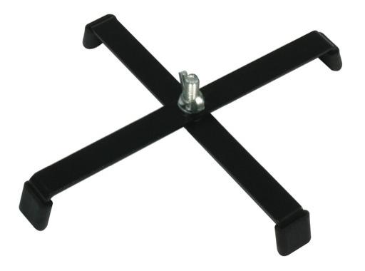 Pied de sol noir • charge 15kg L 23cm H 3cm M10