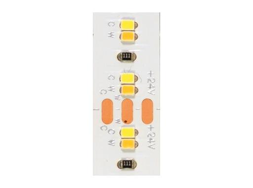 LED STRIP • 1200 Leds Hybrid 5m 24V 28,8W/m Blanc chaud/froid