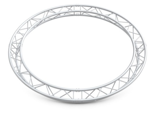 Structure trio cercle ø 3 m 4 segments pointe haut / bas - M290 QUICKTRUSS