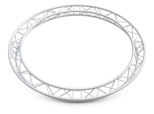 Structure trio cercle ø 5 m 8 segments pointe haut / bass - M222 QUICKTRUSS