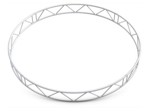 QUICKTRUSS • Duo M222 cercle vertical ø2.00m 4 segments + kits de jonction