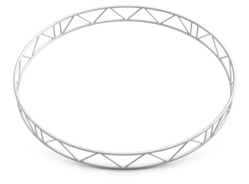 QUICKTRUSS • Duo M222 cercle vertical ø5.00m 8 segments + kits de jonction