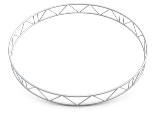 Structure échelle cercle vertical ø 6 m 8 segments - Duo M222 QUICKTRUSS