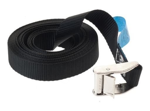 SANGLE ARRIMAGE • Noire - largeur 25 mm à griffe 250kg - longueur 4,50m