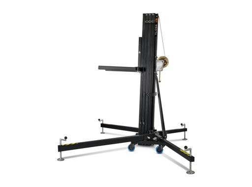 Pied de levage noir TL056B à fourches H 6,50m Charge 200 kg Forks adaptateur - V