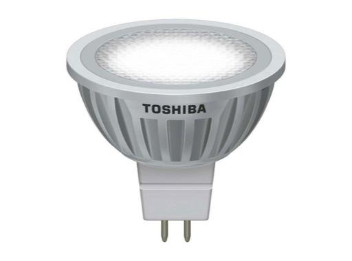 TOSHIBA • LED GU5,3 9W 12V 3000K 35° 440lm 25000H