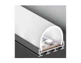 ESL • Profil alu anodisé double pour Led 2.00m + diffuseur opaline Oval-eclairage-archi--museo-