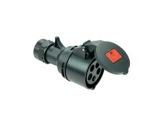PCE • Prolongateur femelle noire 225-6X/P17 415V 32A 3P+N+T-cablage