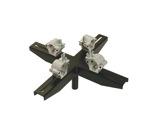 VMB • Adaptateur structure noir 4 points pour TE074B-structure--machinerie
