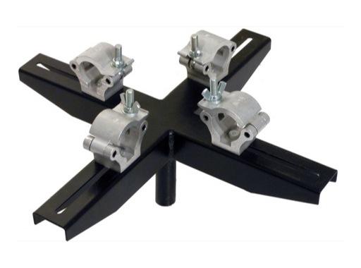 VMB • Adaptateur structure noir 4 points pour TE064B, TE071B et TE076B