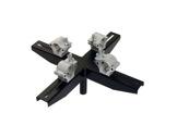 VMB • Adaptateur structure noir 4 points pour TE064B, TE071B et TE076B-accessoires