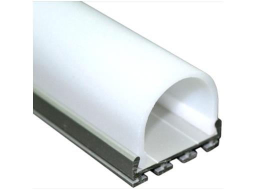 ESL • Profil alu anodisé double pour Led 1.00m + diffuseur opaline Oval