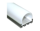 ESL • Profil alu anodisé double pour Led 1.00m + diffuseur opaline Oval-eclairage-archi--museo-