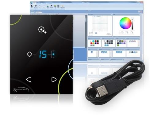 LUMIDESK • Touch-sensitive Glass Keypad LIVE
