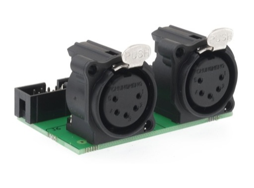 ENTTEC • Double intput DMX connector module