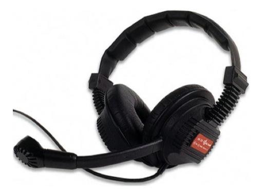 ALTAIR • Casque léger 2 oreilles avec micro orientable pour boitier ceinture HF