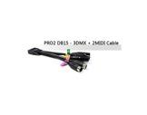 ENTTEC • Câble 3 x DMX + 2 MIDI pour DMX USB PRO MK2 ENT44-usb-dmx