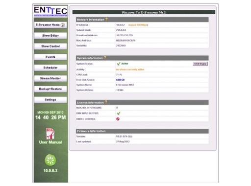 ENTTEC • Estreamer MK2 Extra 1 Univers Art-Net (license)