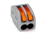 WAGO • Paquet de 50 bornes de connexion sans outils 2 X 0,08 à 4mm2 souple-barettes-de-connexion-wago
