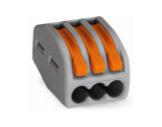 WAGO • Paquet de 50 bornes de connexion sans outils 3 X 0,08 à 4mm2 souple