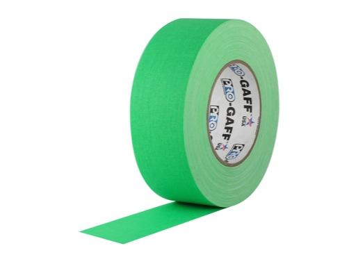 ADHESIF • Gaffer fluorescent vert 50mm x 25m