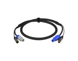 CABLE HYBRIDE • 3G2,5 + 2X0.22 Powercon & XLR5 1,5m-cablage