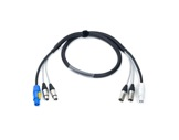 CABLE HYBRIDE • 3G2,5 + 2X(2X0.22) Powercon & XLR3 & XLR5 1,5m-hybrides