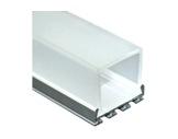 ESL • Profil alu anodisé double pour Led 1.00m + diffuseur opale Square-eclairage-archi--museo-