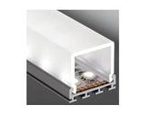 ESL • Profil alu anodisé double pour Led 3.00m + diffuseur opaline Square-eclairage-archi--museo-