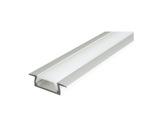 ESL • Profil alu anodisé Micro K pour Led 1.00m + diffuseur opaline-eclairage-archi--museo-