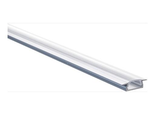ESL • Profil alu anodisé Micro K pour Led 2.00m + diffuseur transparent