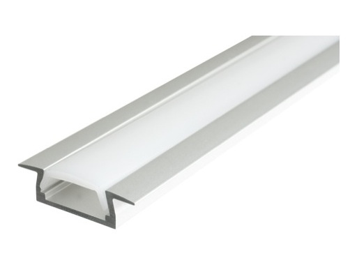 ESL • Profil alu anodisé Micro K pour Led 3.00m + diffuseur opaline