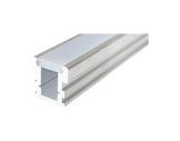 ESL • Profil alu anodisé HR LINE pour Led 1.00m + diffuseur opaline-eclairage-archi--museo-