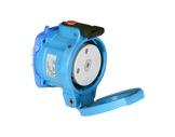 MARECHAL • DS3 Socle (Femelle) avec couvercle - IP55 - Poly bleu 1P+N+T 50A 250V-cablage