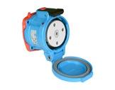 MARECHAL • DS3 Socle (Femelle) avec couvercle - IP55 - Poly bleu 3P+N+T 50A 440V-cablage