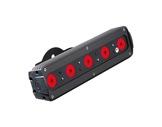 Barre LED FOS 33 5 LEDs Full RGBW 28° In/Out M12 IP65 noire (sans alim) • DTS-projecteurs-en-saillie