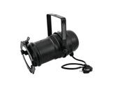 Projecteur PAR30 noir + porte filtre + câble + fiche moulée-eclairage-spectacle