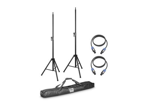 LDS • DAVE8 SET KIT 2 x pieds d'enceinte avec housse + 2 câbles HP 5m