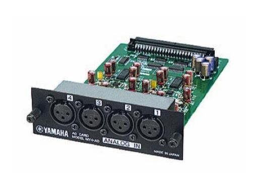 YAMAHA • Carte 4 entrées analog. sym. niveau ligne XLR conv. 24 bits
