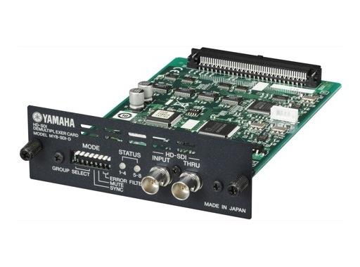YAMAHA • Carte 8 E/S format HD/SDI, de-embedder, 24 bits/48kHz